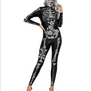 Adult skeleton bodycon Halloween costume